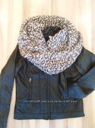 снуды шарфы крупной вязки