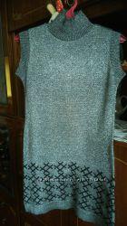 Платье серебряное, праздничное