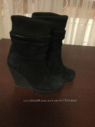 Зимние замшевые  ботинки, р. 36