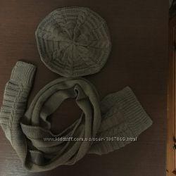 Комплект шарф и берет, новый