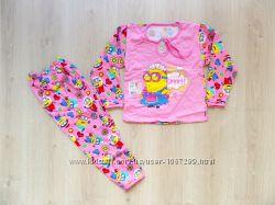 Теплая пижама с начесом для девочки миньоны