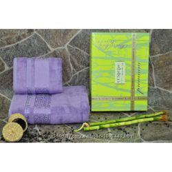 Наборы бамбуковых полотенец.