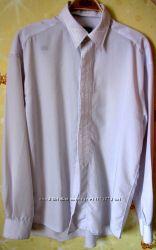 Рубашка белая с вышивкой, воротник 45 см снимается