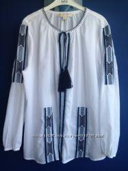 Блузка с вышивкой от Michael Kors