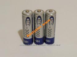 Аккумулятор батарейка BTY АА 3000mah 3шт.