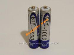 Аккумулятор батарейка BTY ААА 1000mah 2шт.
