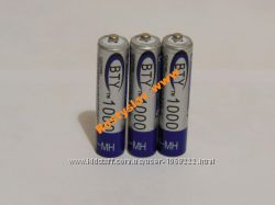 Аккумулятор батарейка BTY ААА 1000mah 3шт.