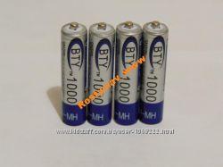 Аккумулятор батарейка BTY ААА 1000mah 4шт.