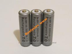 Аккумулятор батарейка АА 3000mah 3шт.