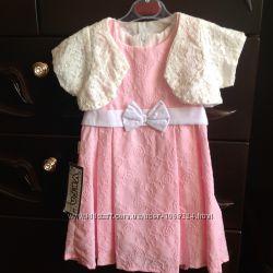 Нарядное платье и болеро для девочки 9-18 мес  80-86-92 рр