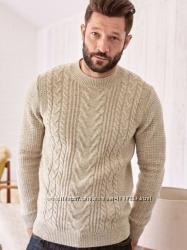 Мужской свитер Next, рр XL 56-58, 117-122 ог, Англия