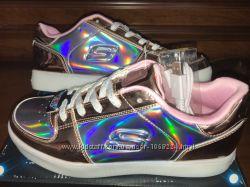 Светящие кроссовки-кеды Skechers, рр 5, 5 6, 5 38-39, оригинал USA ... 638f4553ce9