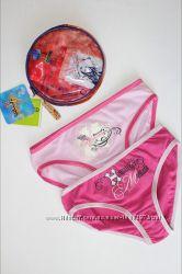 Подарочный коттоновый комплект 2 трусиков в сумочке. Испания. 6-8, 10-12 л.