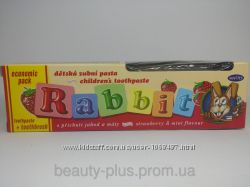 Rabbit детская зубная паста Клубника, 45 г  щеточка