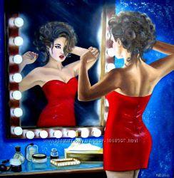 Картина маслом Зеркало