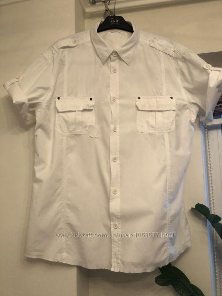 Белоснежная мужская рубашка Devergo
