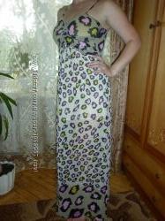 Продам  красочное шыфоновое платье