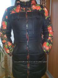 Тёплая яркая курточка