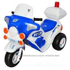 Детский электромобиль Мотоцикл Полицейский Орион 372.
