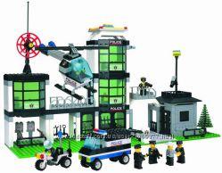 Конструктор Brick 110, 514, 823 Штаб Полиции, Шатл, Танк