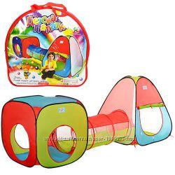 Детская игровая палатка 2 в 1 с переходом М 2958 Классная Яркая