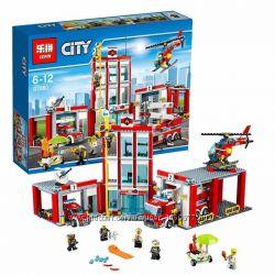 Конструктор Lepin 02052 Пожарная часть, Пожарный командный центр 1029 дет