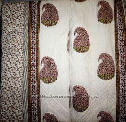 Индийские покрывала. Ручная работа. натуральные красители, ткань и наполни