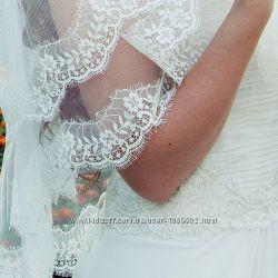 Фата для невесты с кружевом свадебный салон