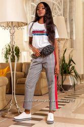 414e9d47c82b Стильные брюки на лето с Лампасами в синюю и красную клетку S ...