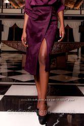 Эффектная юбка Замшевая на запах с регулируемым поясом 8 цветов S-XL