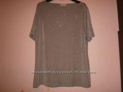 Блуза Bonmarche 56 большой размер серая блестящая