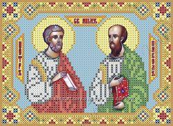 вышивка бисером Святые апостолы Пётр и Павел