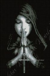 вышивка бисером Ночная молитва