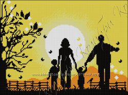 вышивка бисером Семейное счастье
