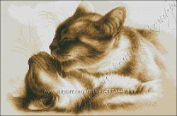 Набор для вышивки бисером Кошачьи нежности