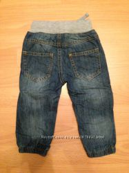 Утепленные джинсы на трикотажной подкладе рост 80