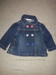 Джинсовый пиджак, ветровка на девочку 6-12мес.