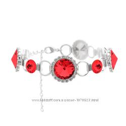 Набор браслет и цепочка KOBI с камнями Swarovski