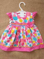 Новое яркое красивое платье и повязка на голову 6-12 мес