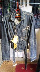 Куртка косуха джинсовая новая S