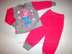 Пижамы теплые с мини начесом девочкам, р. 80 - 116, в наличии