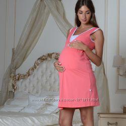 Ночная рубашка для беременных и кормящих 205-03