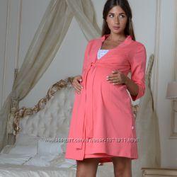 Халат для беременных и кормящих 307-01