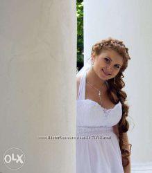 Шикарное свадебное платье.