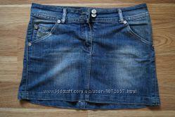 джинсовая короткая юбка Jennyfer