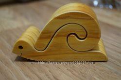 деревянная улитка из 2 частей, дерево