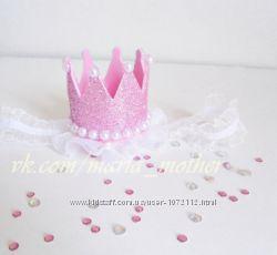 Блестящая корона для девочки
