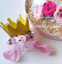 Корона детская праздничная с цветами