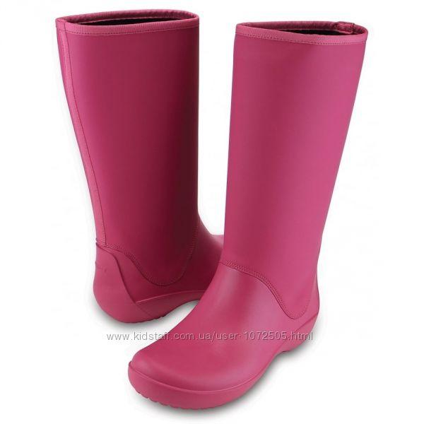 10090810da44 Женские дождевые сапоги Crocs RainFloe Boot