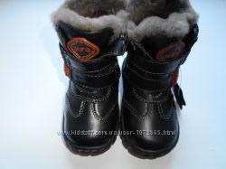 Зимние кожаные сапоги на мальчика Тм UFO Венгрия р. 21-23